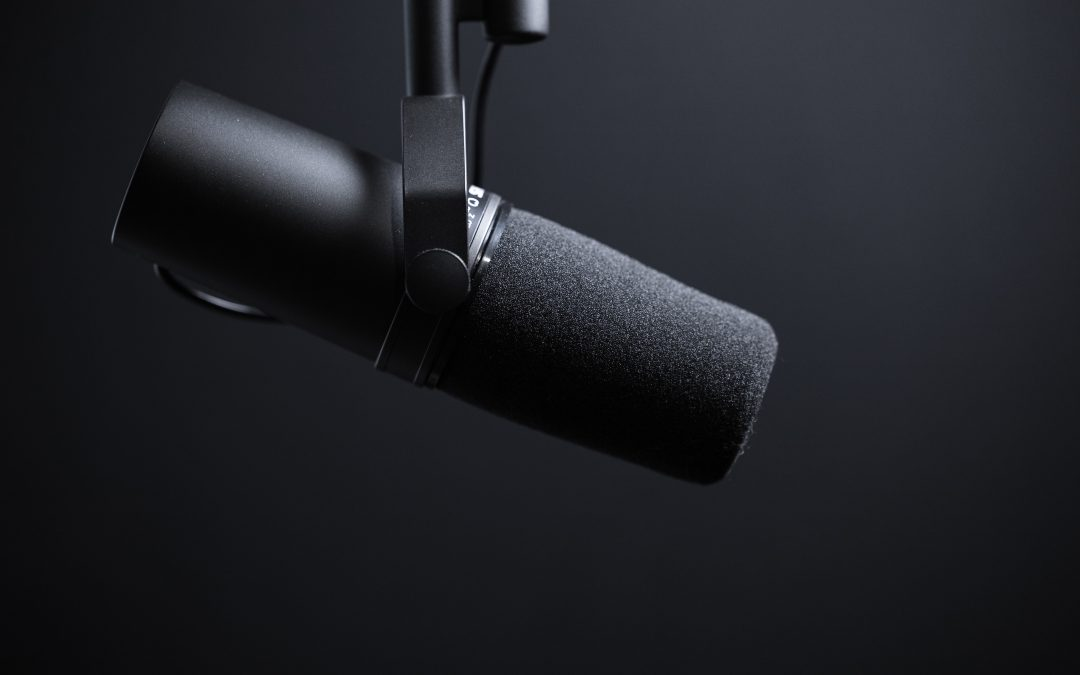 Podcast mic for podcast host